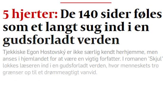 """""""Skjul"""" får ♥♥♥♥♥ i Politiken"""